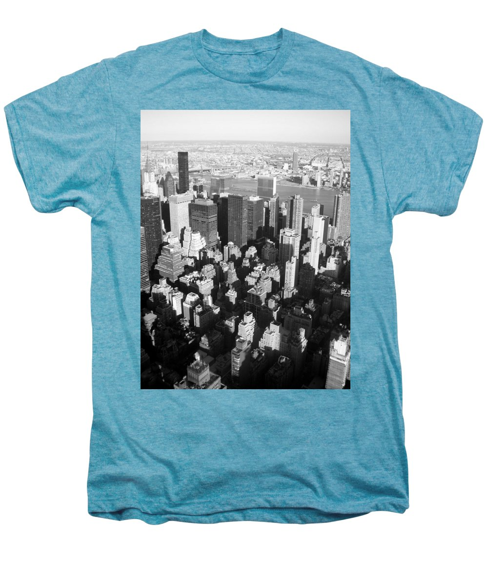 Nyc Men's Premium T-Shirt featuring the photograph Nyc Bw by Anita Burgermeister