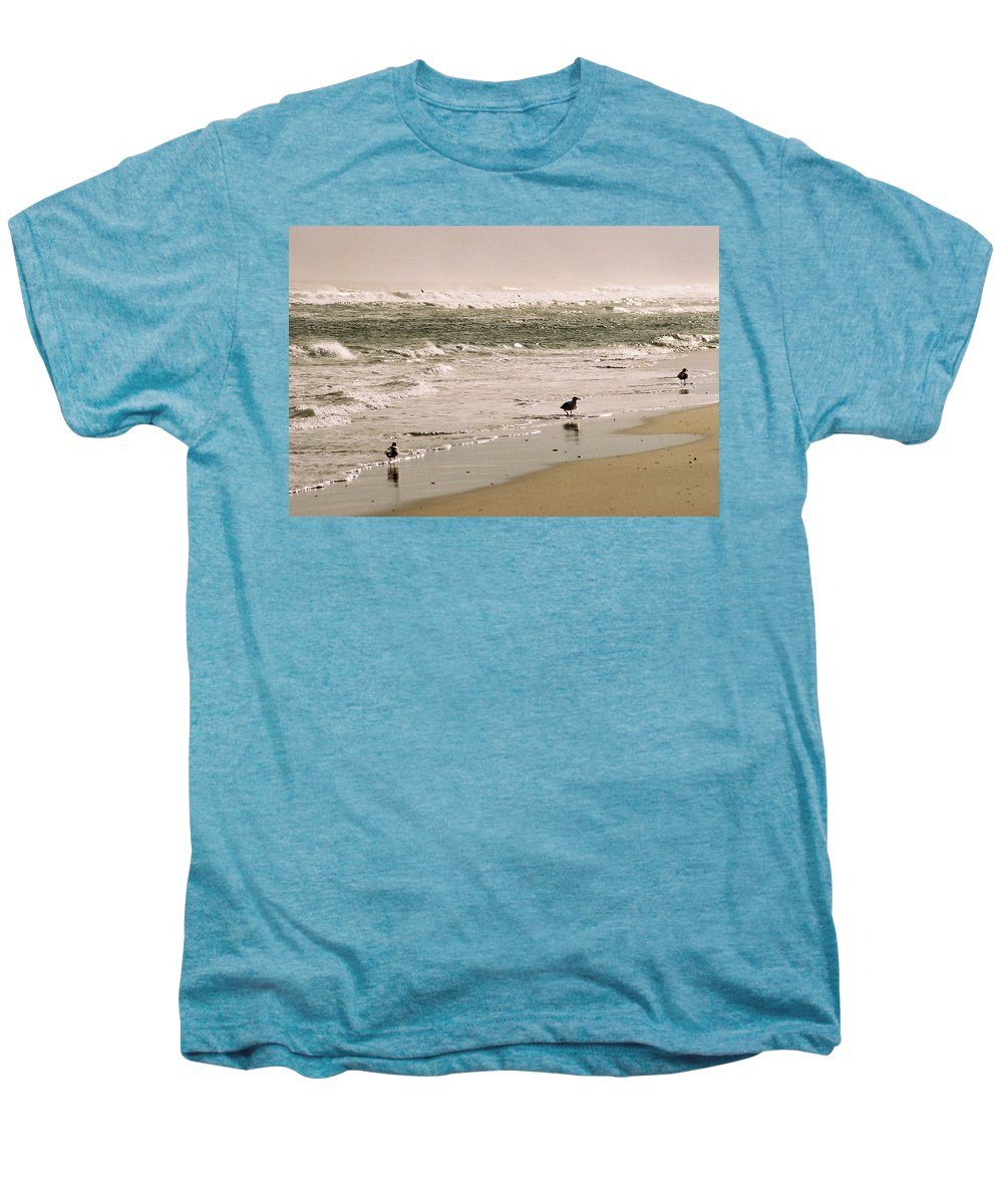 Seascape Men's Premium T-Shirt featuring the photograph Ocean Edge by Steve Karol