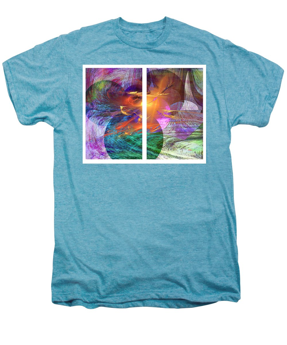 Ocean Fire Men's Premium T-Shirt featuring the digital art Ocean Fire by John Beck