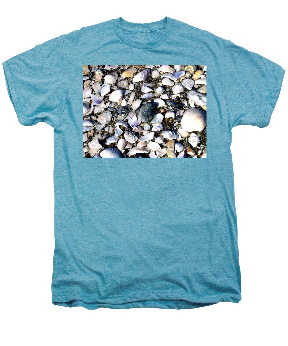Ocracoke Men's Premium T-Shirt featuring the photograph Ocracoke Shells by Wayne Potrafka