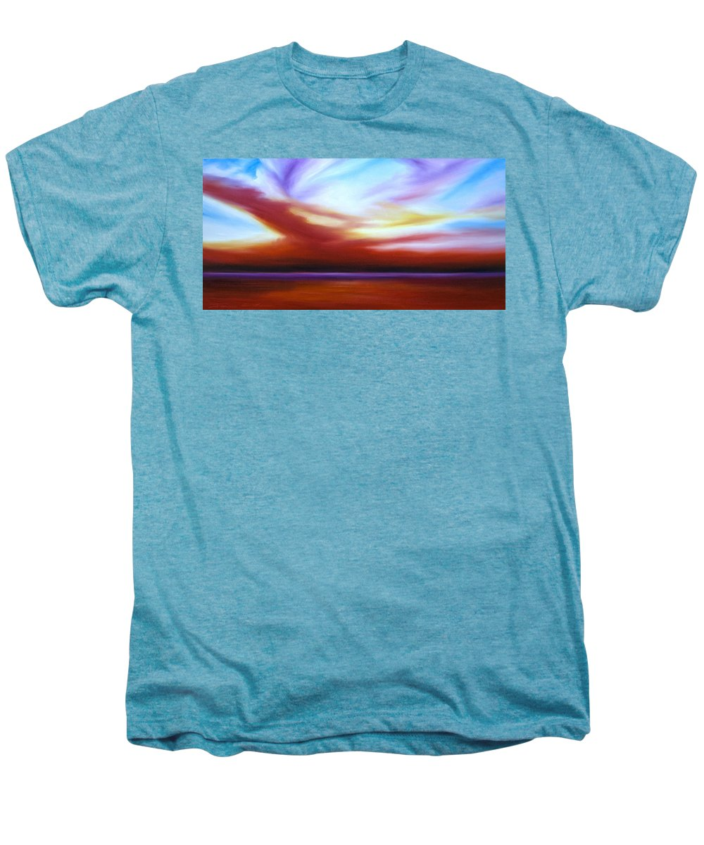 Skyscape Men's Premium T-Shirt featuring the painting October Sky IIi by James Christopher Hill