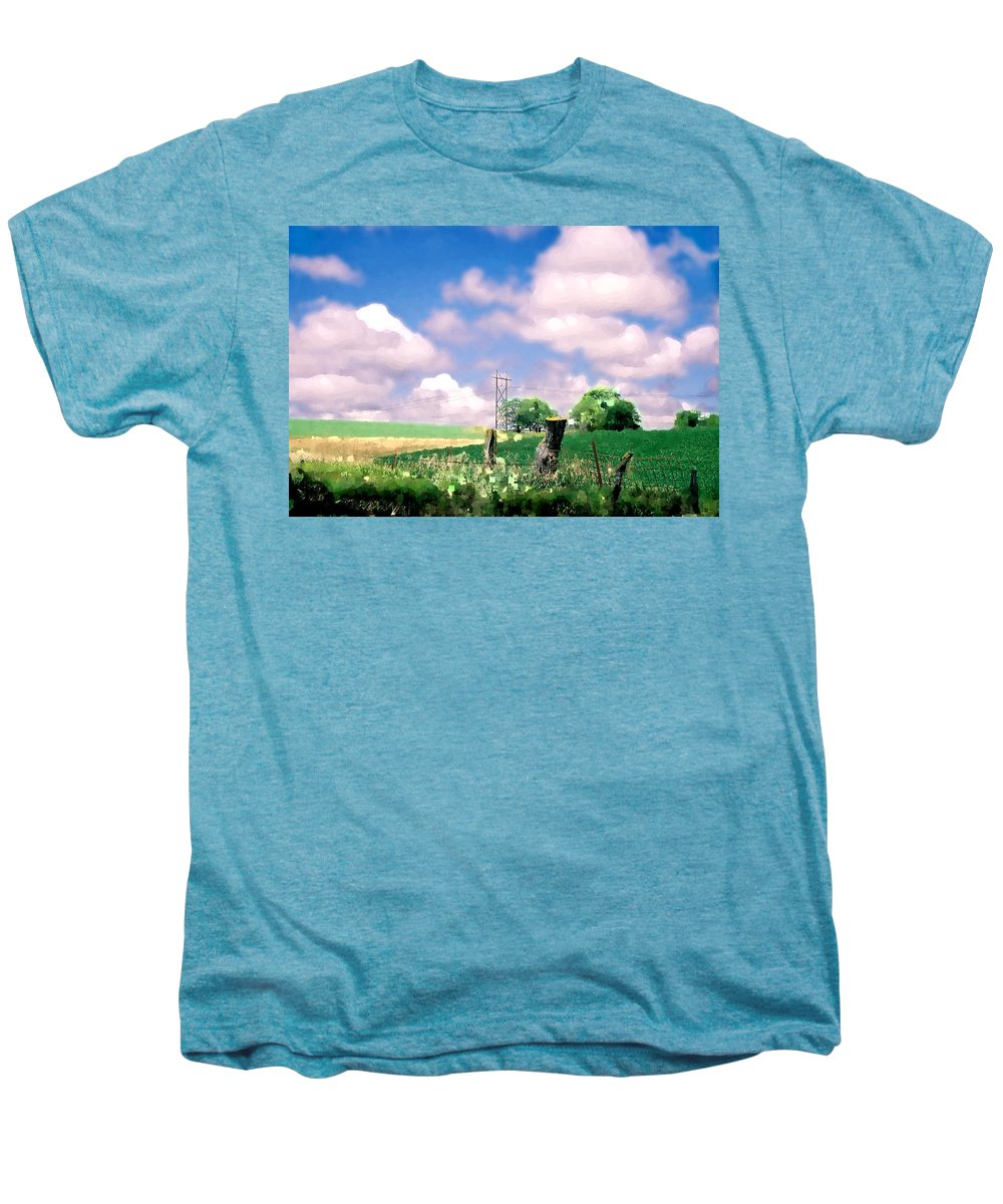 Landscape Men's Premium T-Shirt featuring the photograph Off The Grid by Steve Karol