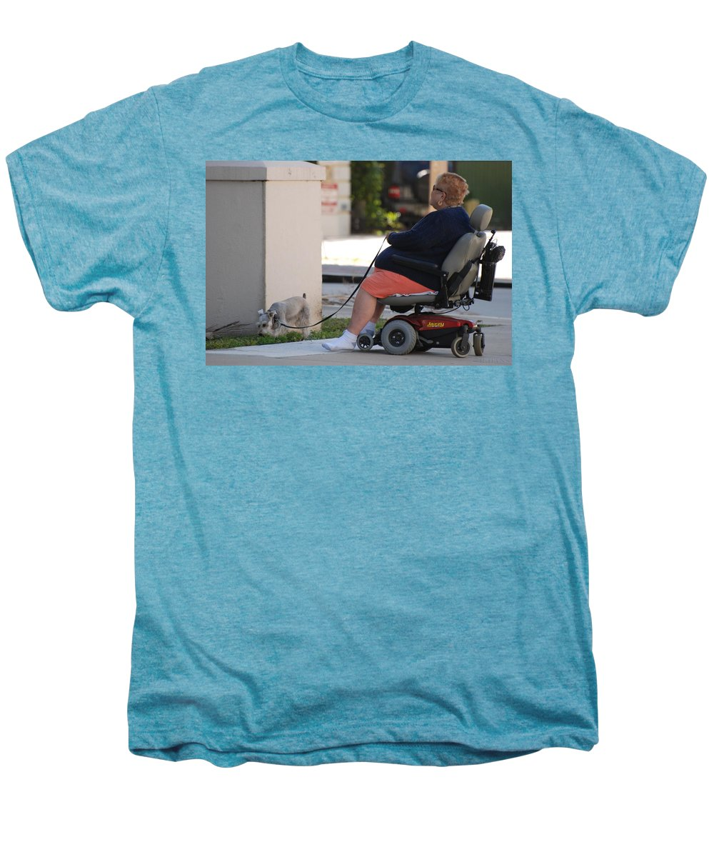 Women Men's Premium T-Shirt featuring the photograph Old Barefoot Women by Rob Hans
