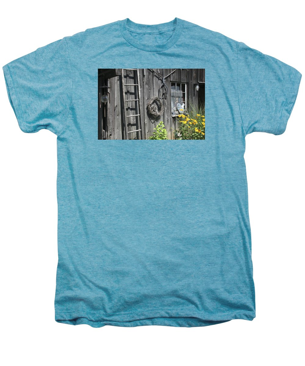Barn Men's Premium T-Shirt featuring the photograph Old Barn II by Margie Wildblood