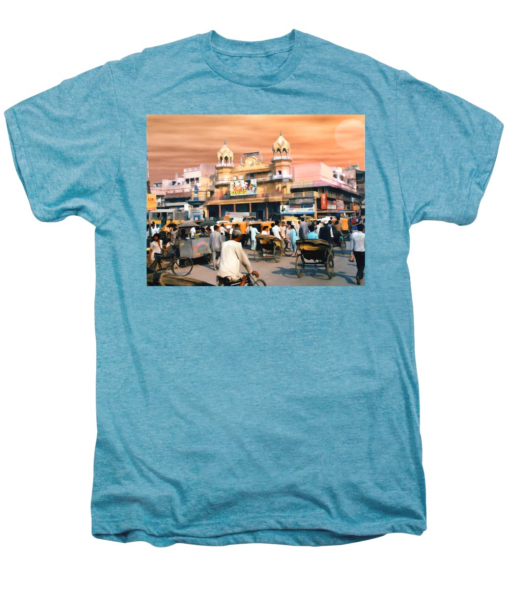 India Men's Premium T-Shirt featuring the photograph Old Dehli by Kurt Van Wagner