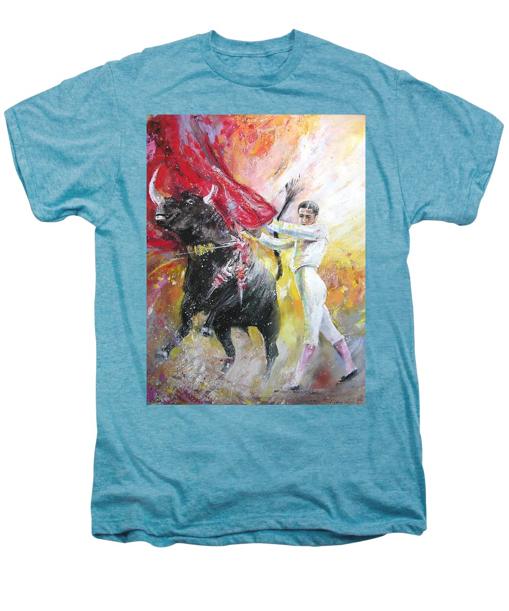 Animals Men's Premium T-Shirt featuring the painting Ole by Miki De Goodaboom