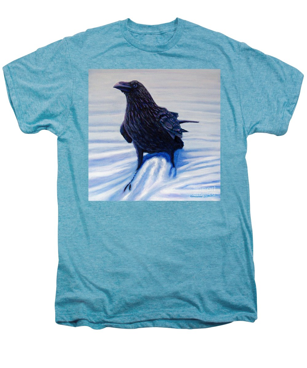 Raven Men's Premium T-Shirt featuring the painting On Canyon Road by Brian Commerford