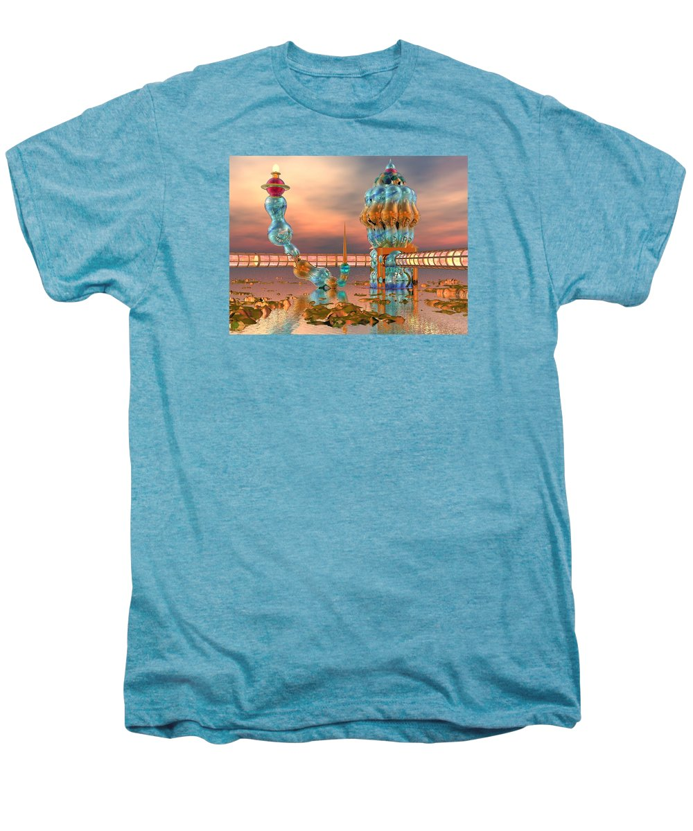 Landscape Men's Premium T-Shirt featuring the digital art On Vacation by Dave Martsolf