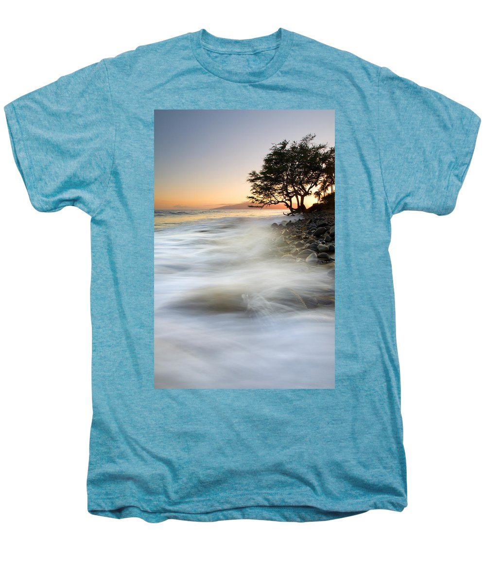 Sunset Men's Premium T-Shirt featuring the photograph One Against The Tides by Mike Dawson
