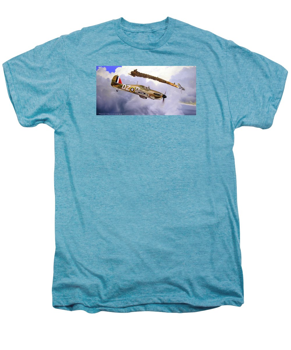 Aviation Art Men's Premium T-Shirt featuring the painting One Of The Few by Marc Stewart