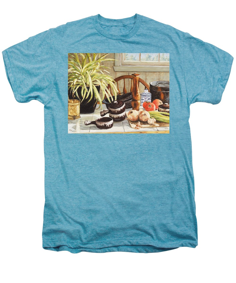 Onion Men's Premium T-Shirt featuring the painting Onion Soup Tonight by Richard T Pranke