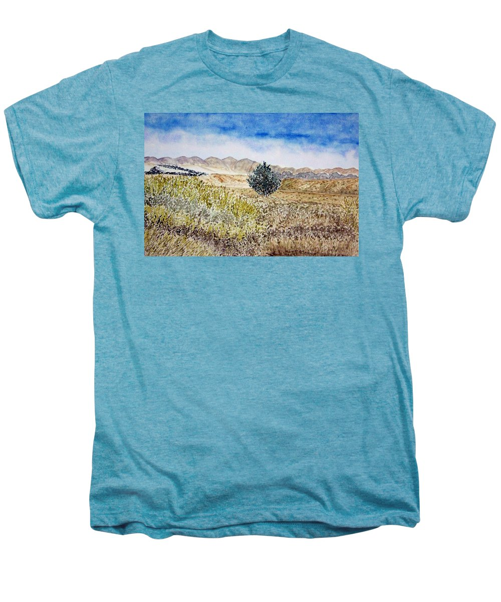 Desert Art Men's Premium T-Shirt featuring the painting Onyo National Forest by Larry Wright