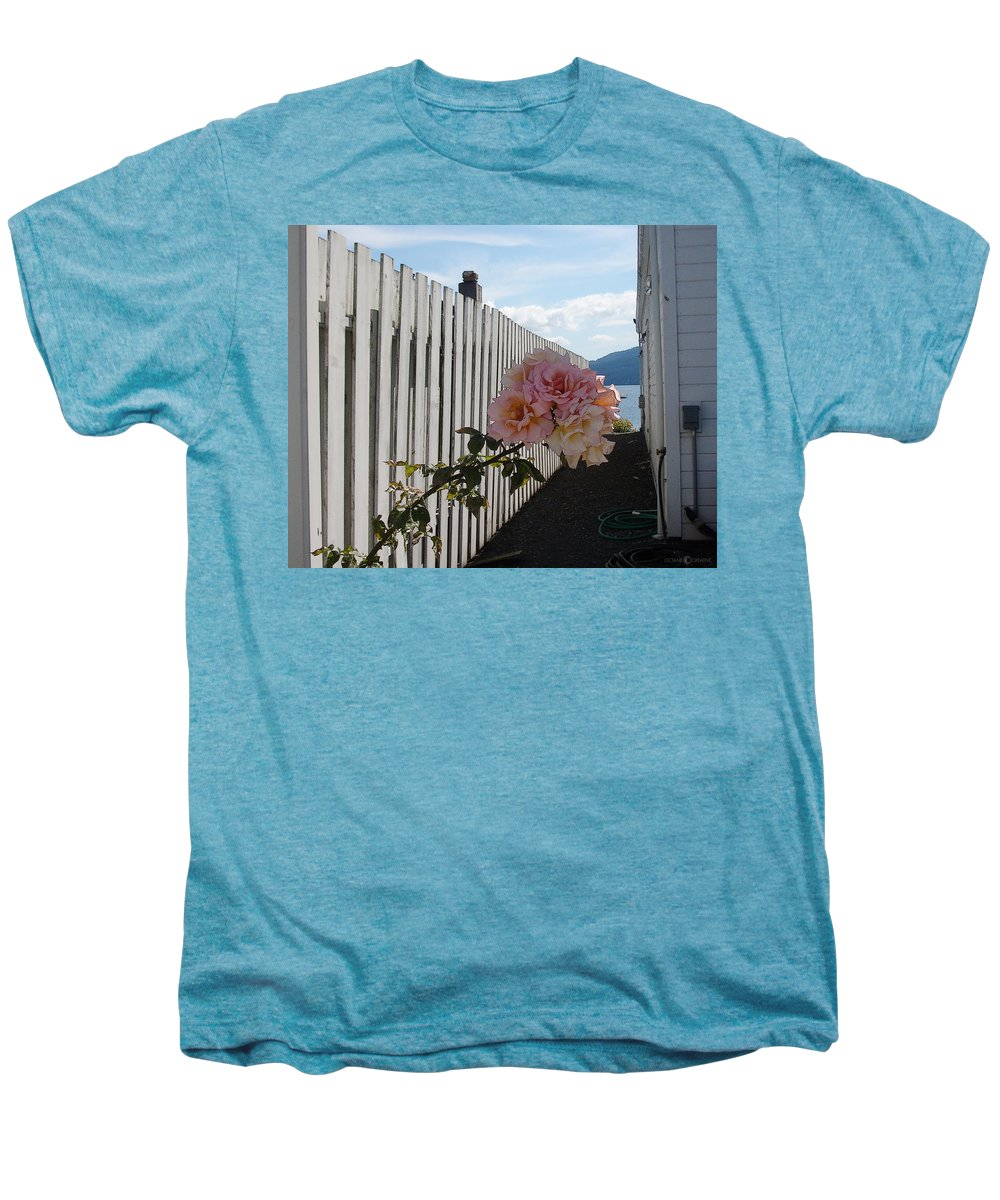 Rose Men's Premium T-Shirt featuring the photograph Orcas Island Rose by Tim Nyberg