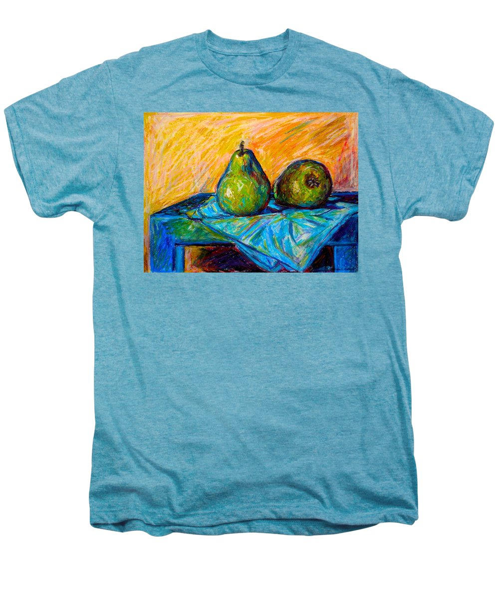 Still Life Men's Premium T-Shirt featuring the painting Other Pears by Kendall Kessler