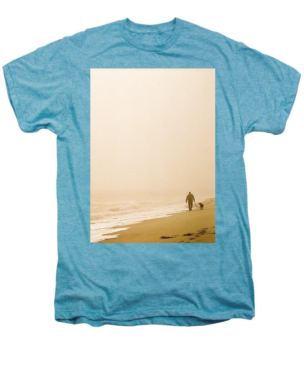 Landscape Men's Premium T-Shirt featuring the photograph Out Of The Mist by Steve Karol