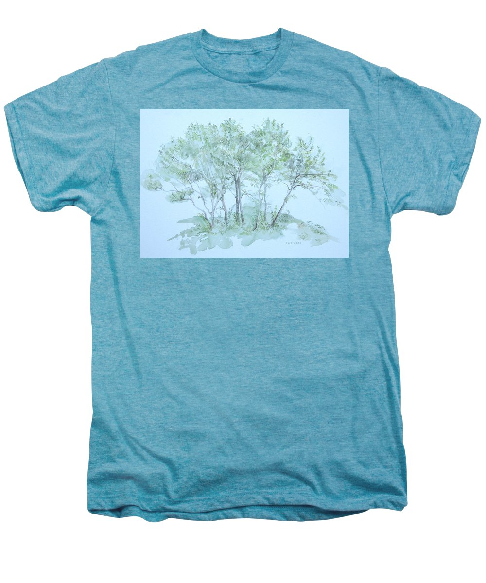 Trees Men's Premium T-Shirt featuring the painting Outer Banks by Leah Tomaino