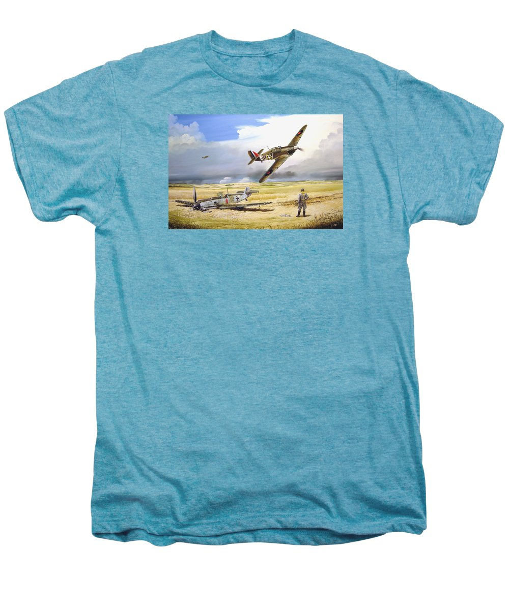 Painting Men's Premium T-Shirt featuring the painting Outgunned by Marc Stewart