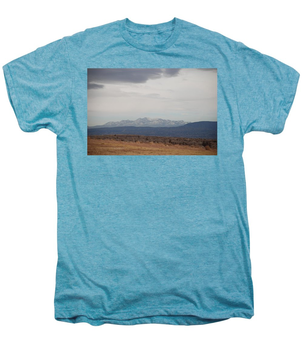 Mountains Men's Premium T-Shirt featuring the photograph Overcast On The Sandias by Rob Hans