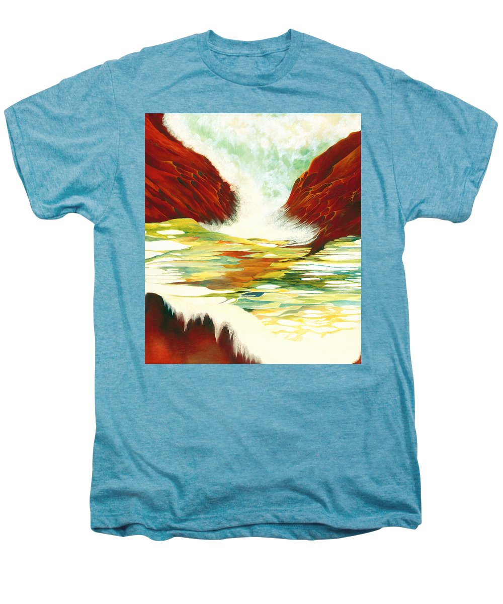Oil Men's Premium T-Shirt featuring the painting Overflowing by Peggy Guichu