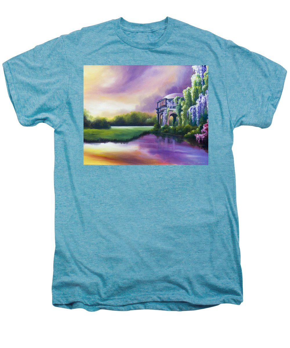 Marsh Men's Premium T-Shirt featuring the painting Palace Of The Arts by James Christopher Hill
