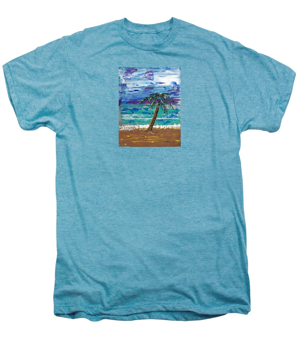 Impressionist Painting Men's Premium T-Shirt featuring the painting Palm Beach by J R Seymour