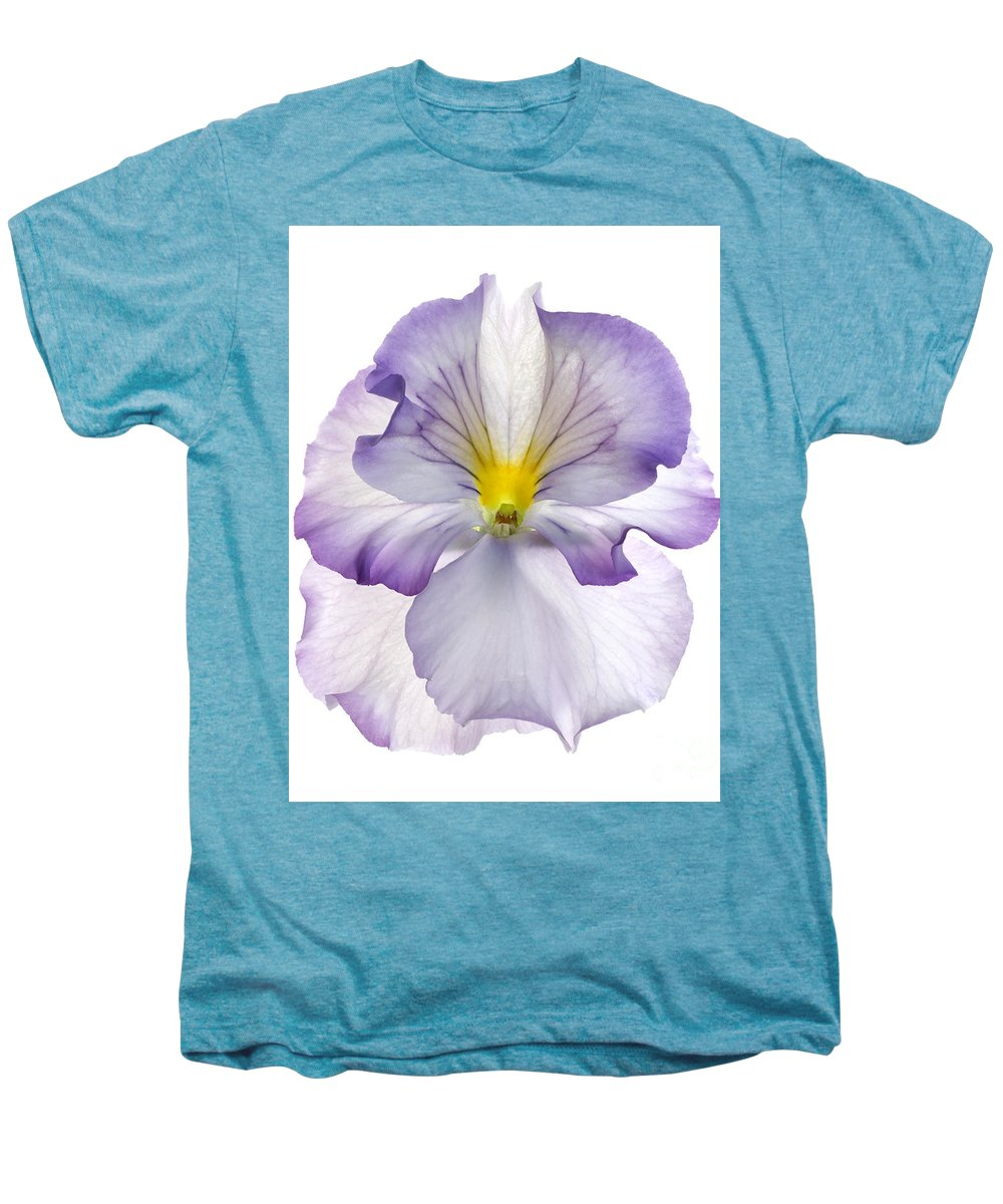 Pansy Genus Viola Men's Premium T-Shirt featuring the photograph Pansy by Tony Cordoza