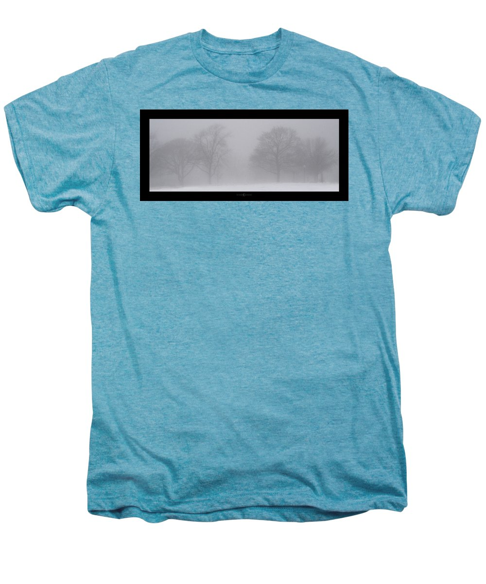 Fog Men's Premium T-Shirt featuring the photograph Park In Winter Fog by Tim Nyberg