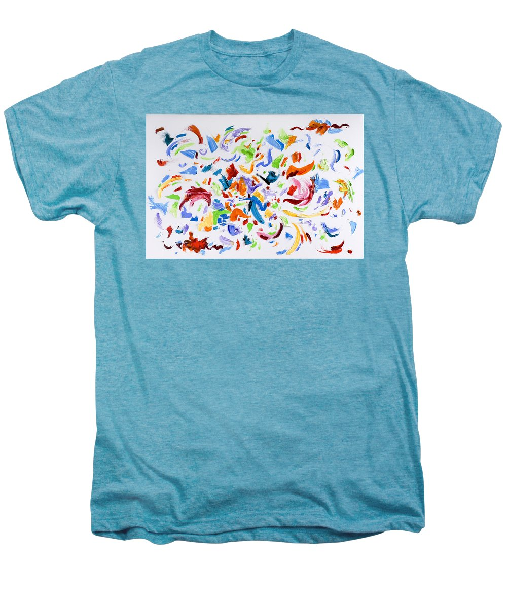 Red Men's Premium T-Shirt featuring the painting Party by Shannon Grissom