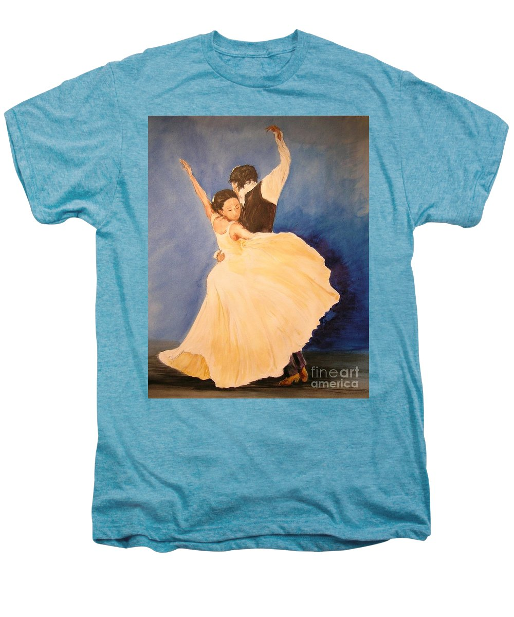 Spain Men's Premium T-Shirt featuring the painting Pasion Gitana by Lizzy Forrester
