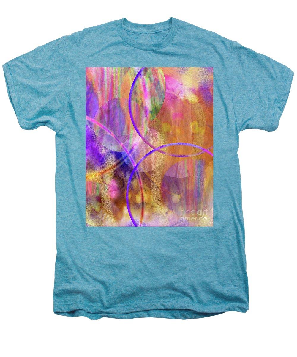 Pastel Planets Men's Premium T-Shirt featuring the digital art Pastel Planets by John Beck