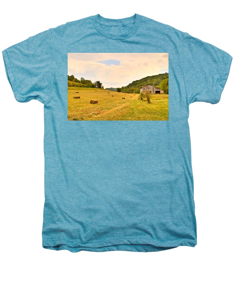 Pastorial Men's Premium T-Shirt featuring the photograph Pastorial Framland In Kentucky by Douglas Barnett