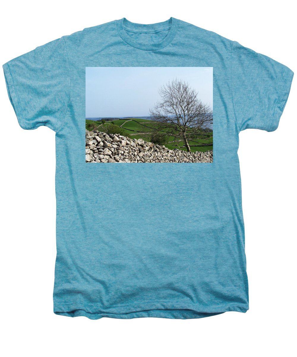 Irish Men's Premium T-Shirt featuring the photograph Patchwork Quilt Lough Corrib Maam Ireland by Teresa Mucha