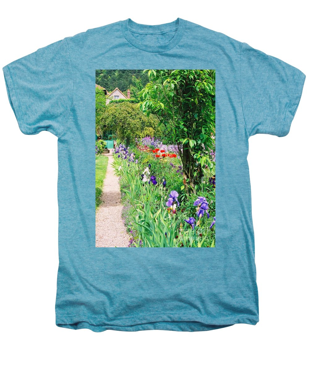 Claude Monet Men's Premium T-Shirt featuring the photograph Path To Monet's House by Nadine Rippelmeyer