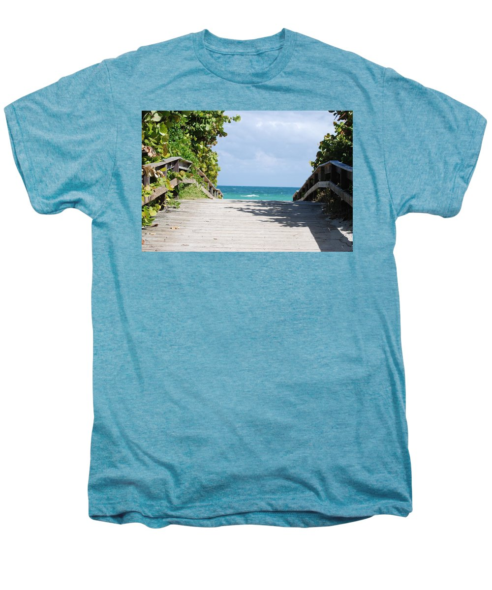 Sea Scape Men's Premium T-Shirt featuring the photograph Path To Paradise by Rob Hans