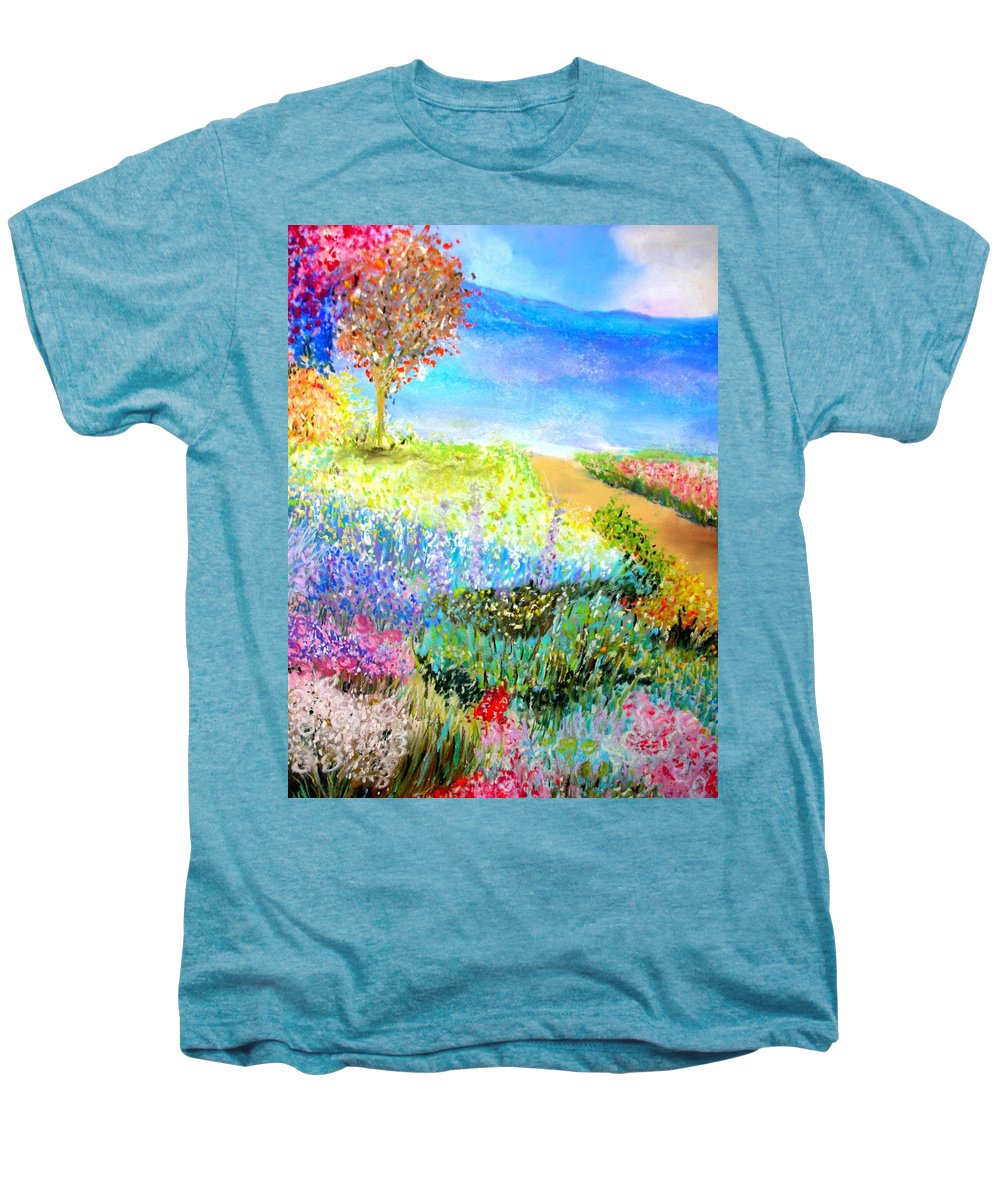 Landscape Men's Premium T-Shirt featuring the print Patricia's Pathway by Melinda Etzold
