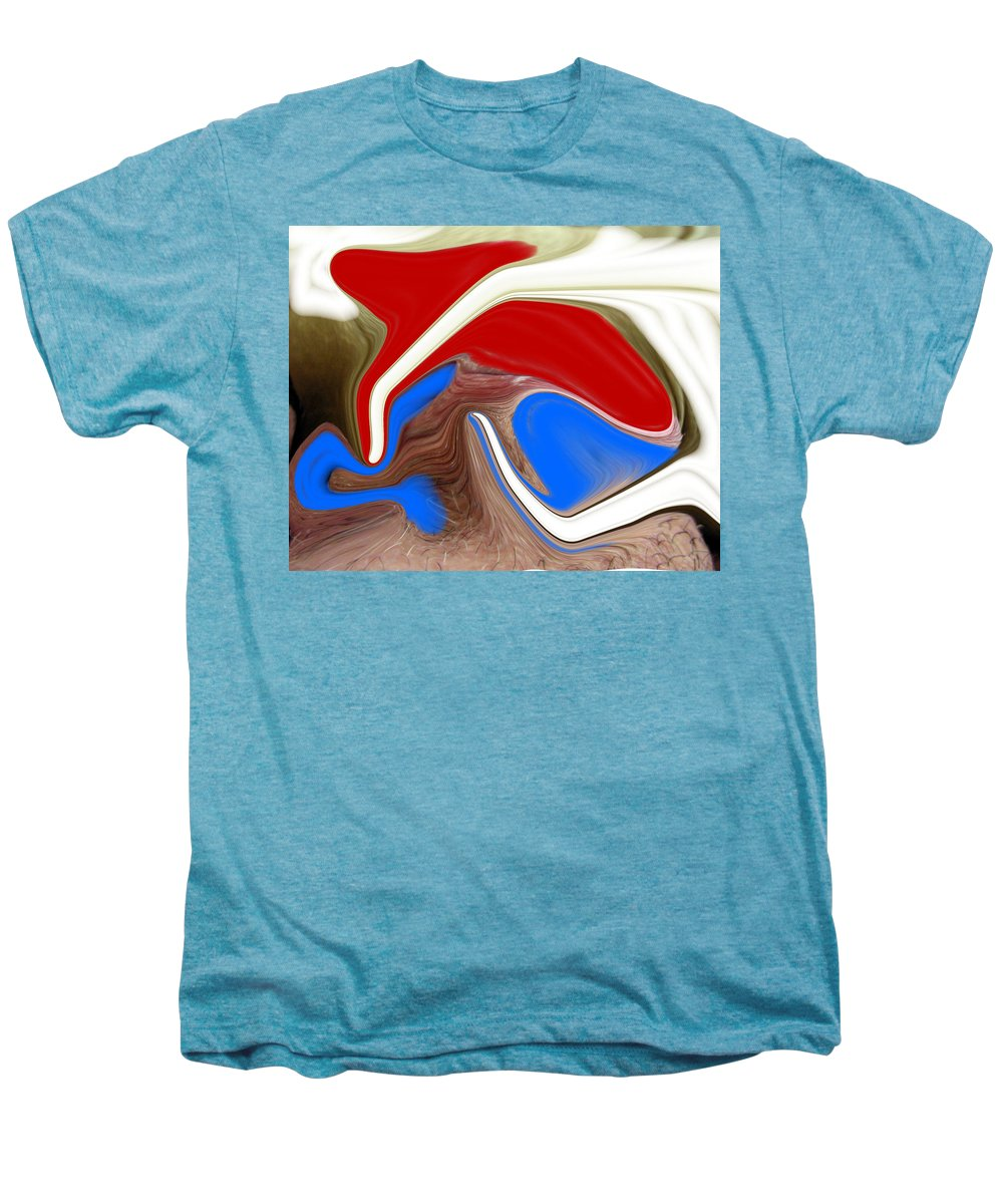 Abstract Men's Premium T-Shirt featuring the photograph Patriot by Allan Hughes