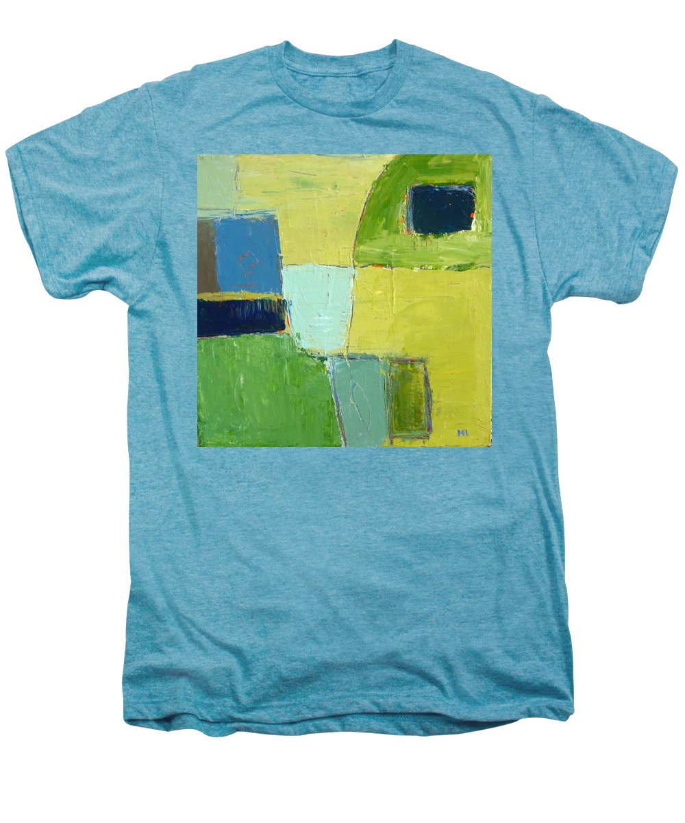 Abstract Men's Premium T-Shirt featuring the painting Peace 1 by Habib Ayat