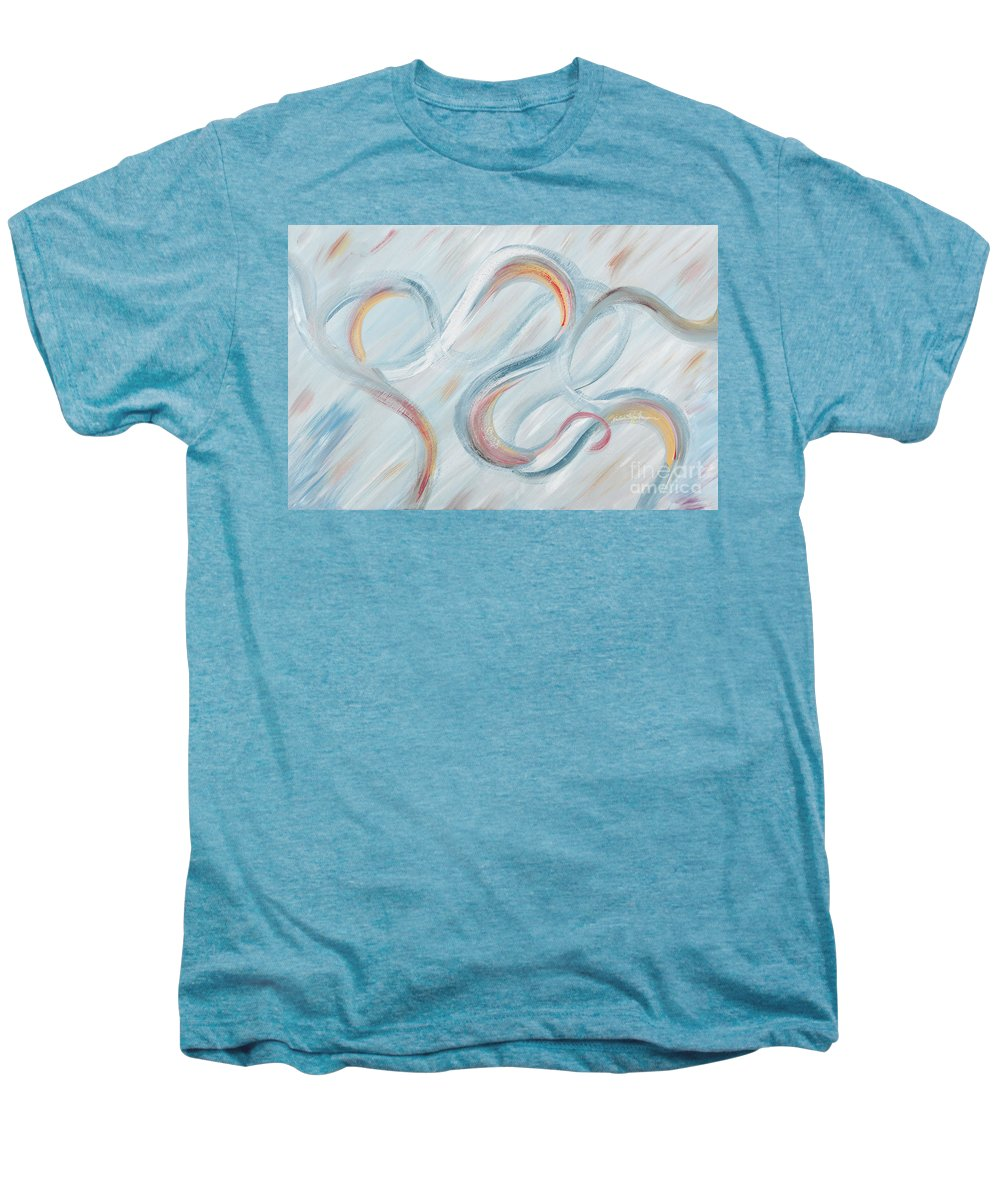 Peace Men's Premium T-Shirt featuring the painting Peace by Nadine Rippelmeyer