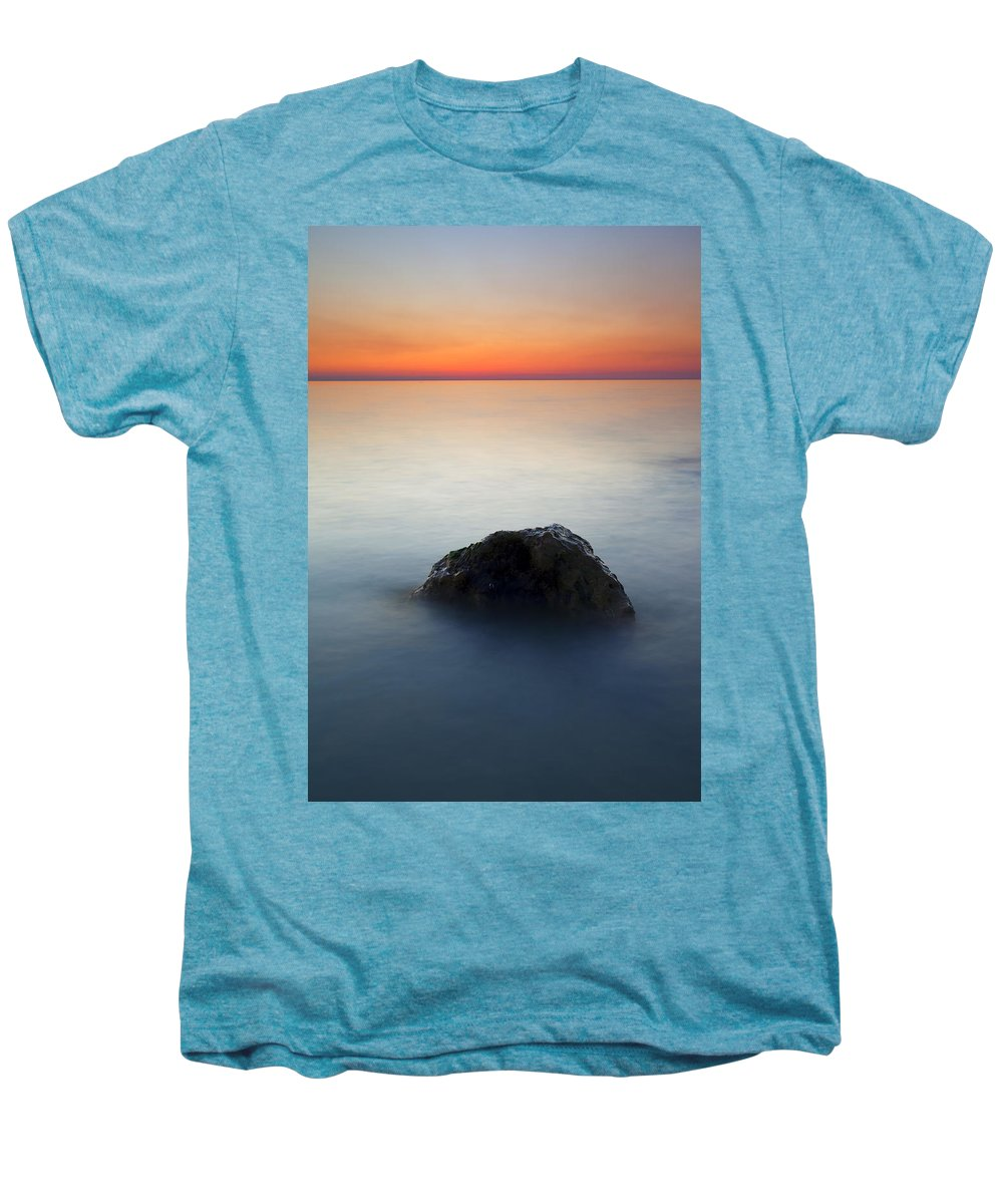 Rock Men's Premium T-Shirt featuring the photograph Peaceful Isolation by Mike Dawson