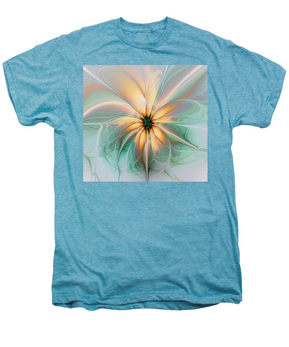 Digital Art Men's Premium T-Shirt featuring the digital art Peach Allure by Amanda Moore