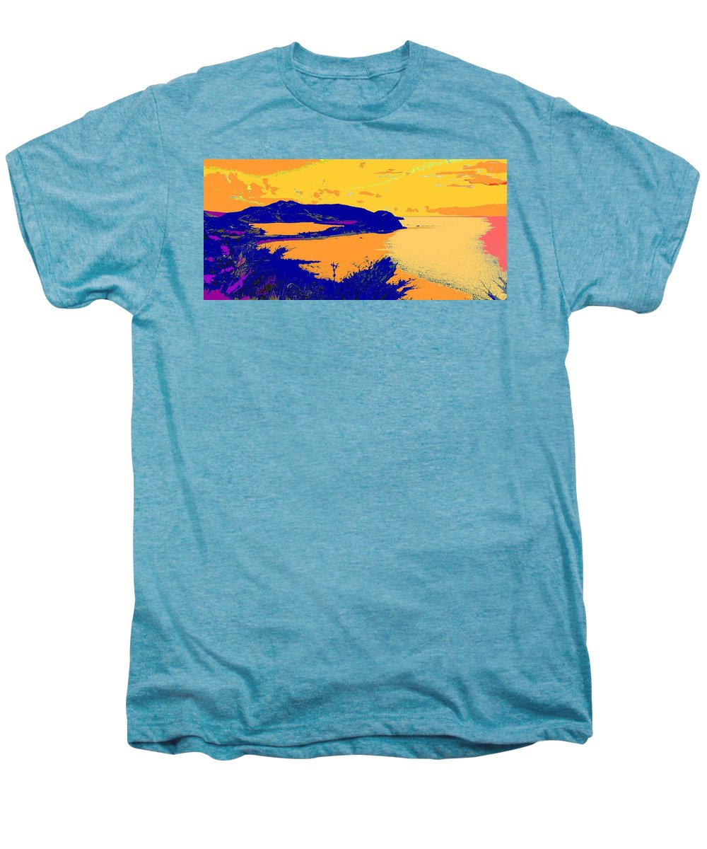 St Kitts Men's Premium T-Shirt featuring the photograph Peninsula Orange by Ian MacDonald