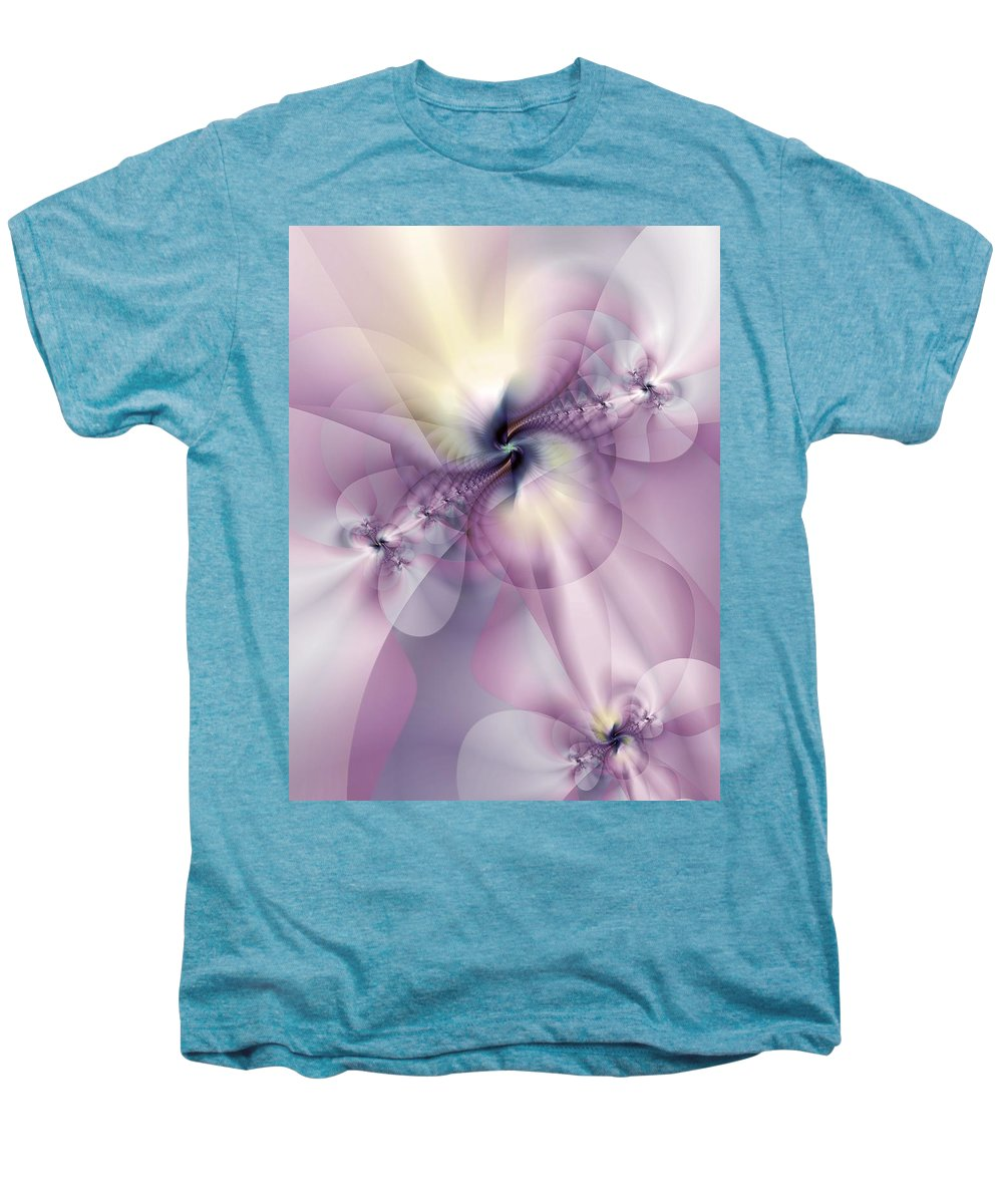 Abstract Men's Premium T-Shirt featuring the digital art Petals Of Pulchritude by Casey Kotas