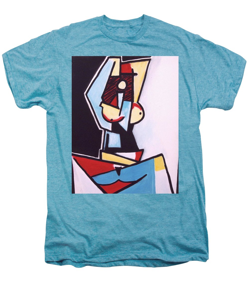Picasso Men's Premium T-Shirt featuring the painting Picasso by Thomas Valentine