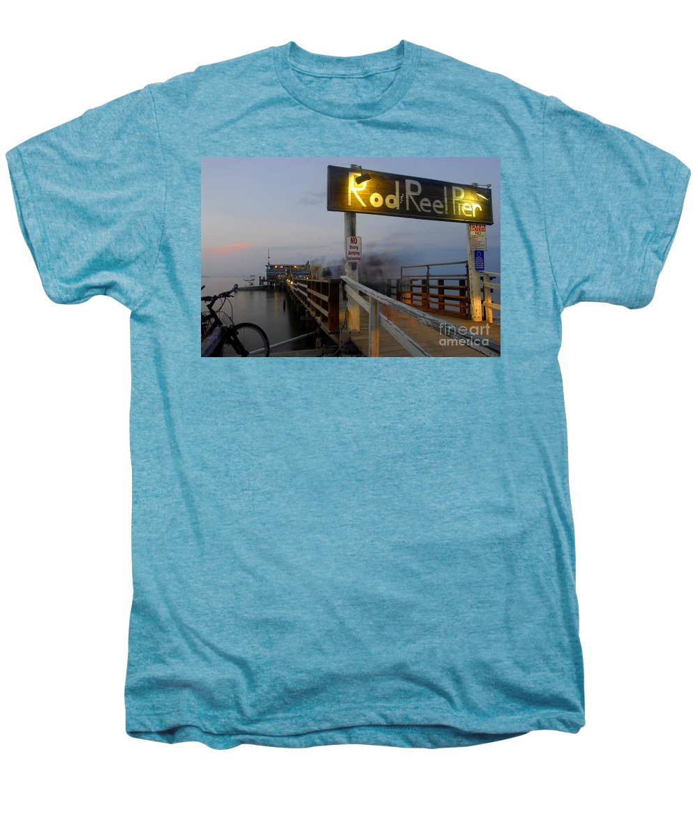 Fishing Pier Men's Premium T-Shirt featuring the photograph Pier Group by David Lee Thompson
