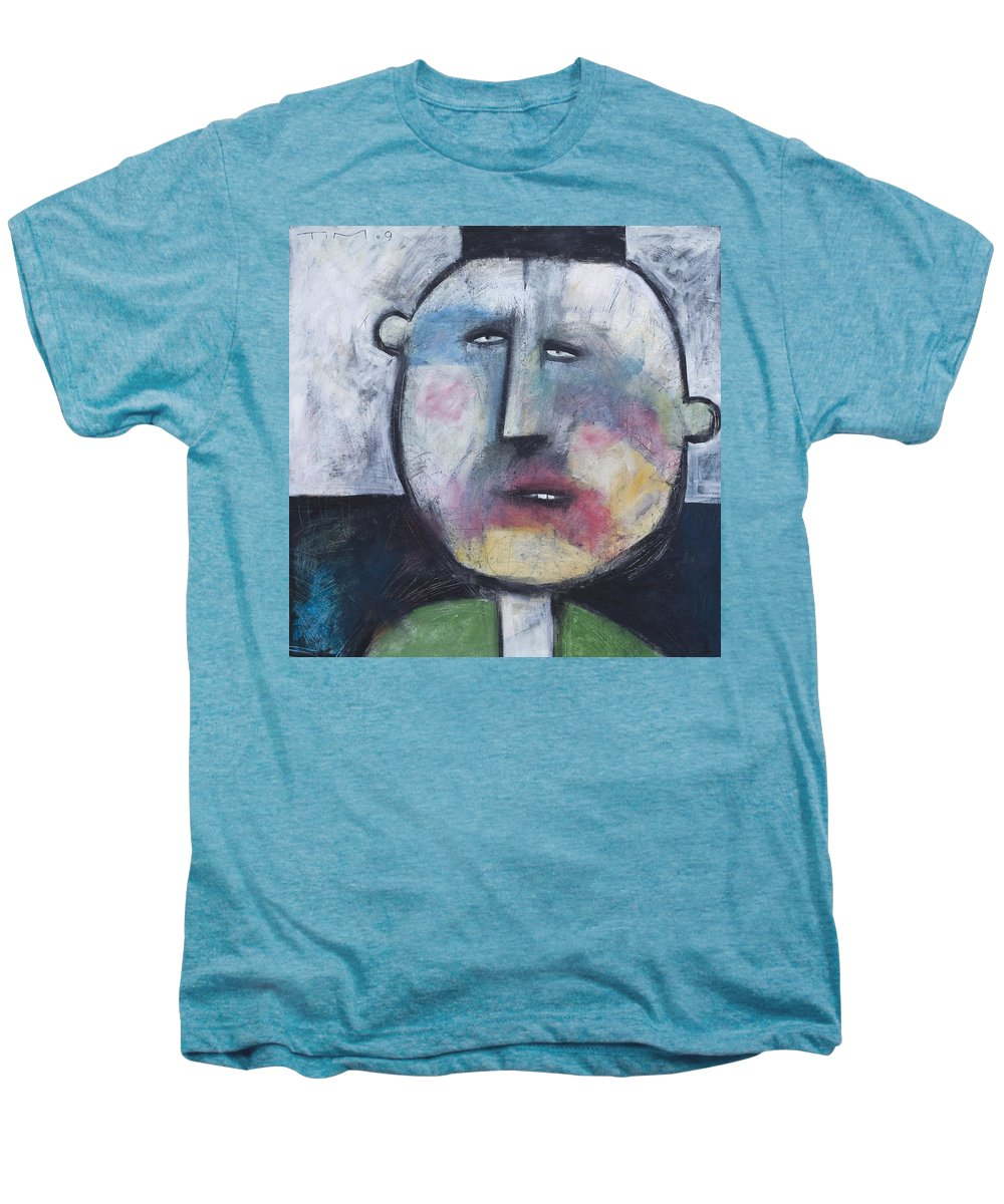 Funny Men's Premium T-Shirt featuring the painting Pillbox by Tim Nyberg