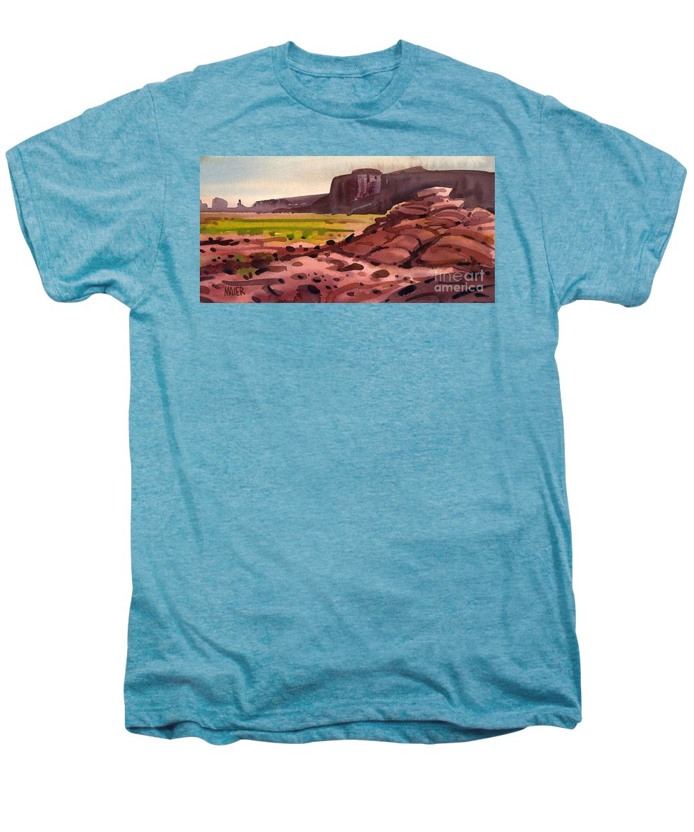 Monument Valley Men's Premium T-Shirt featuring the painting Pillow Rocks by Donald Maier