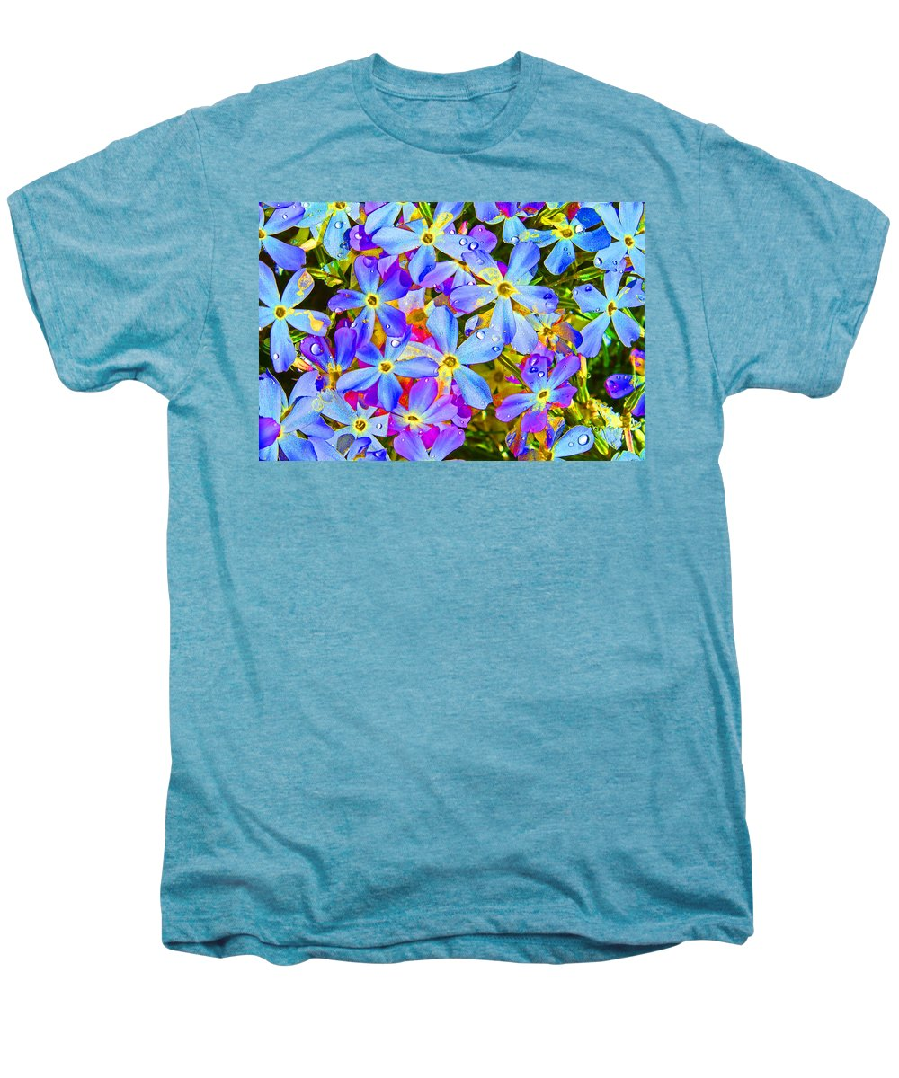 Wildflower Men's Premium T-Shirt featuring the photograph Pincushion Flower by Heather Coen
