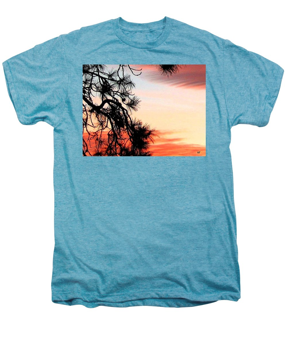 Sunset Men's Premium T-Shirt featuring the photograph Pine Tree Silhouette by Will Borden