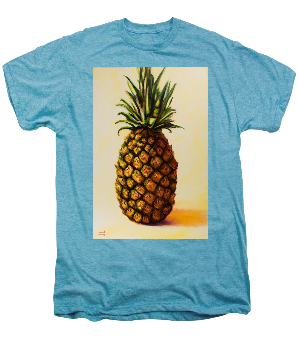 Pineapple Men's Premium T-Shirt featuring the painting Pineapple Angel by Shannon Grissom
