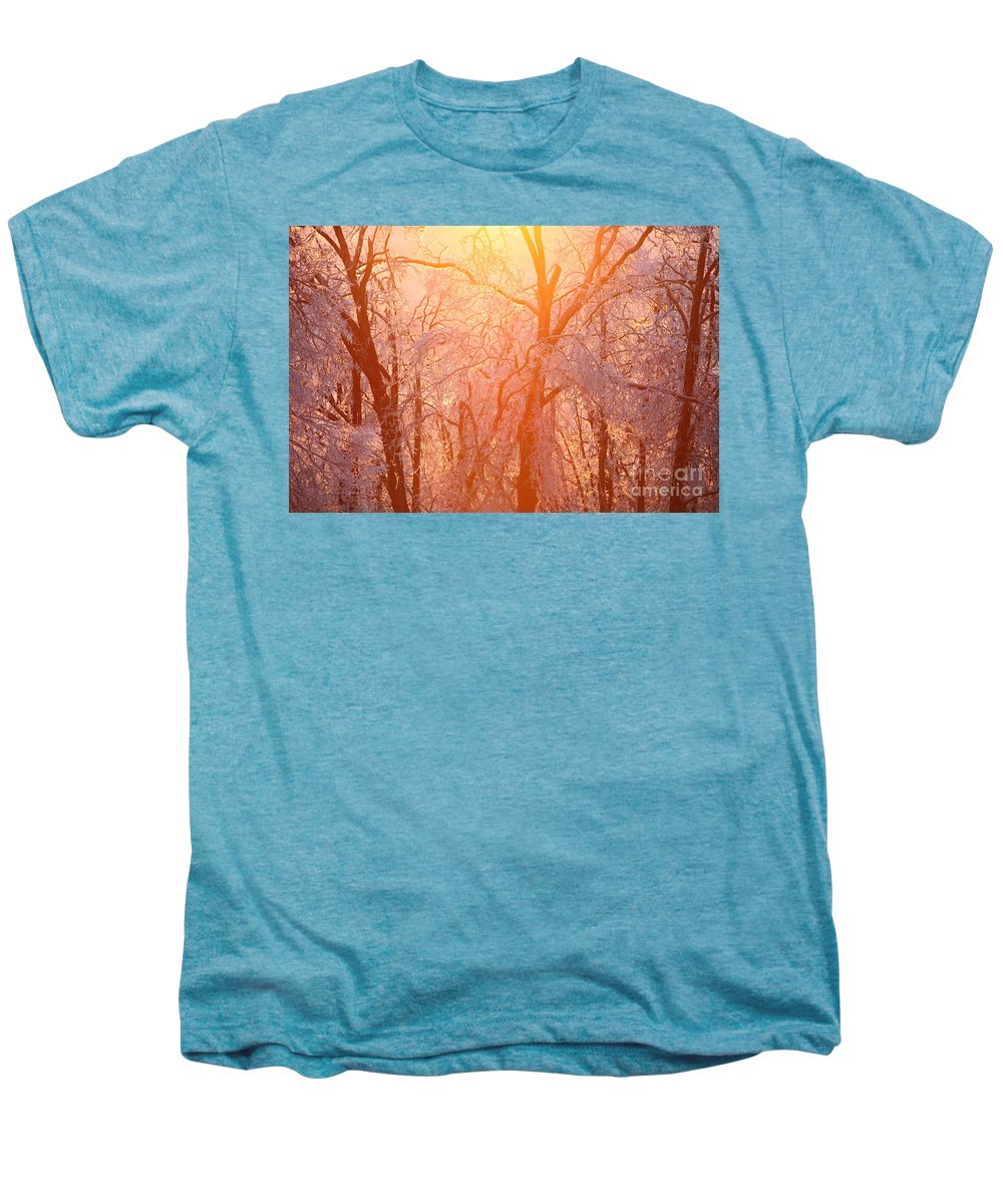 Pink Men's Premium T-Shirt featuring the photograph Pink And Gold by Nadine Rippelmeyer